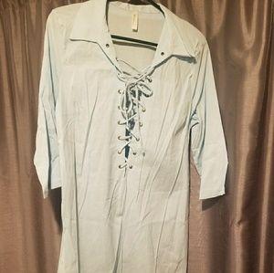 Winwin blue colored blouse Size L